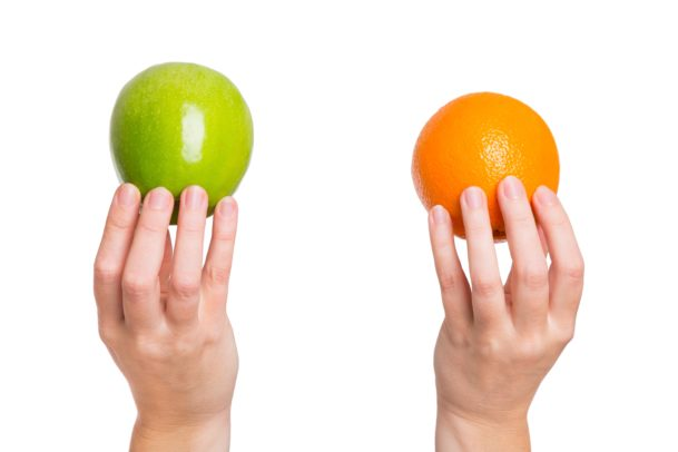 comparing an apple to an orange