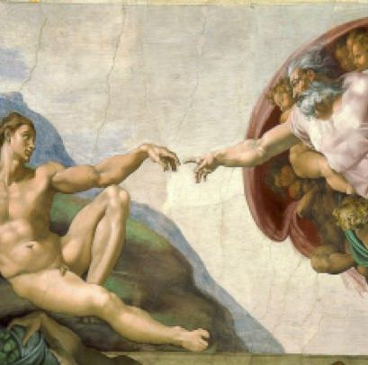 'The Creation of Adam' painting by Michelangelo