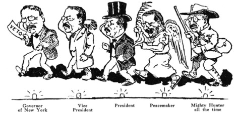 a political cartoon with captions under vice president, president, and peacemaker