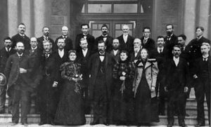Group photo of Utah's first State Senate--including Martha Hughes Cannon.