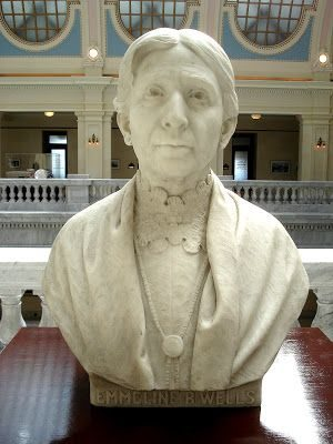 Bust statue of Emmeline B. Wells in Utah State Capitol