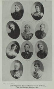 Photomontage of those representatives at the 1899 triennial conference of the National Council of Women