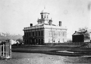 photograph of a large building.