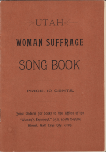 Cover of the Utah Woman Suffrage Song Book