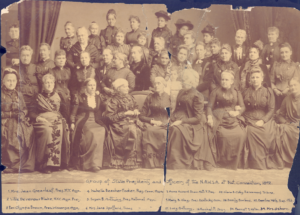 Group photo of the National American Woman Suffrage Convention in 1892 including Emmeline B. Wells.