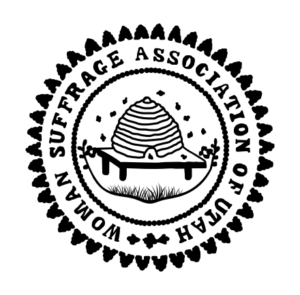 Image of the Woman Suffrage Association of Utah official stamp