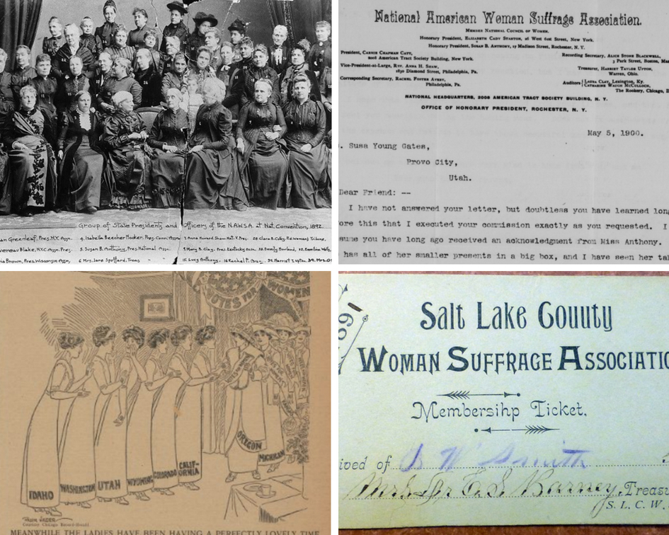 Photo montage of several primary-source documents