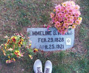 Emmeline B. Wells gravestone in Salt Lake City cemetery.