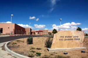 Rough Rock Community School grounds.